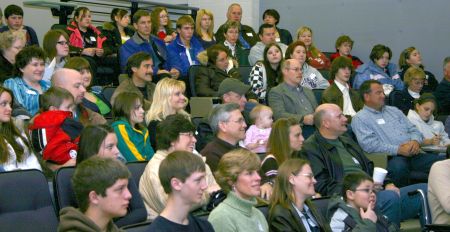 Prospective students & parents at KAMS Preview Day