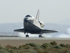 Atlantis landing at Edwards Airforce Base.  Image Credit: NASA/Carla Thomas