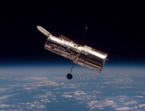 Hubble Space Telescope in orbit.  Image Credit:  NASA