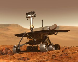 Artist's rendering of Mars rover.  Image Courtesy NASA/JPL-Caltech.