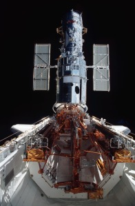 Blast from the Past:  Hubble in Columbia's cargo bay in 2002.  Photo Credit:  NASA