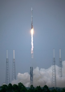 The Atlas V rocket with LRO and LCROSS aboard launched on June 18, 2009 from Cape Canaveral Air Force Station in Florida. Photo credit: NASA/Bill Ingalls