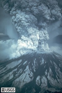 Mt. St. Helen's erupts on May 18, 1980.  Photo credit:  USGS/Cascades Volcano Observatory