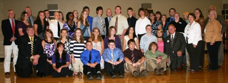 KAMS Class of 2011, staff, and dignitaries.