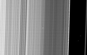 Cassini B Ring moonlet. Credit: NASA/JPL