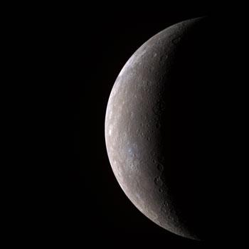 Image of Mercury taken by MESSENGER.  Credit: NASA/Johns Hopkins University Applied Physics Laboratory/Carnegie Institution of Washington