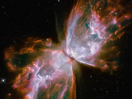 Planetary Nebula NGC 6302 also know as the Butterfly Nebula or Bug Nebula.  This picture was taken by Hubble's Wide Field Camera 3.  Image credit:  NASA, ESA, the Hubble SM4 ERO Team, and ST-ECF