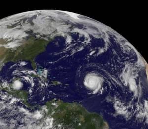 3 hurricanes (Igor, Julia and Karl)