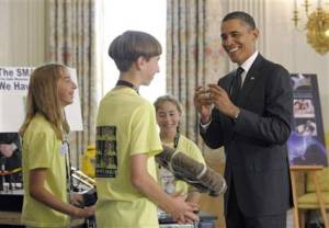 Obama Science Fair picture